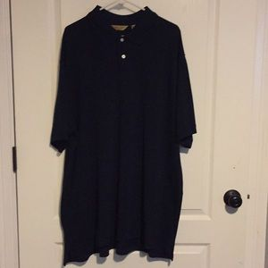 Navy Blue Roundtree & Yorke Golf Shirt 2XLT